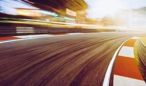 curve of race tracks