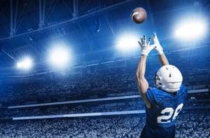 football under the lights