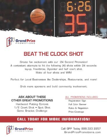 Beat The Clock Shot - Grand Prize Promotions