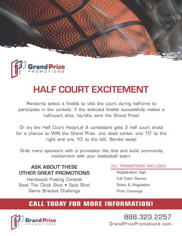 Half Court Shot - Grand Prize Promotions