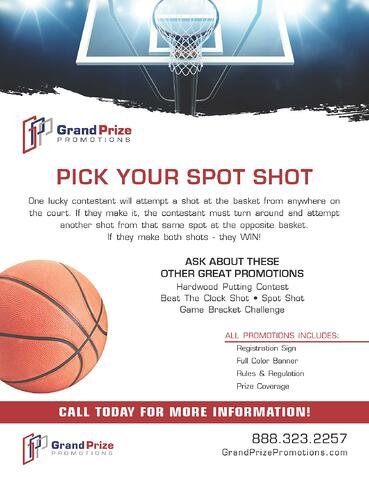 Pick Your Spot Shot - Grand Prize Promotions