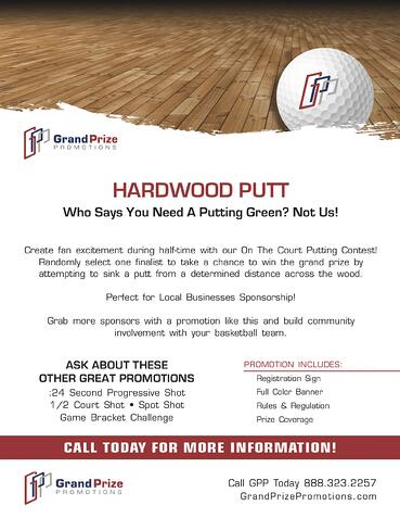 Hardwood Putt - Grand Prize Promotions