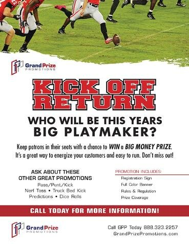Football - Kick Off Return - Grand Prize Promotions