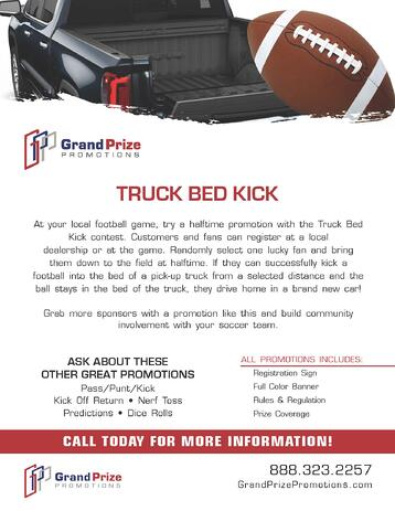 Football Promotions - Truck Bed Kick - Grand Prize Promotions