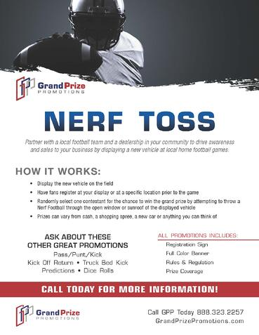 Football - Nerf Toss - Grand Prize Promotions