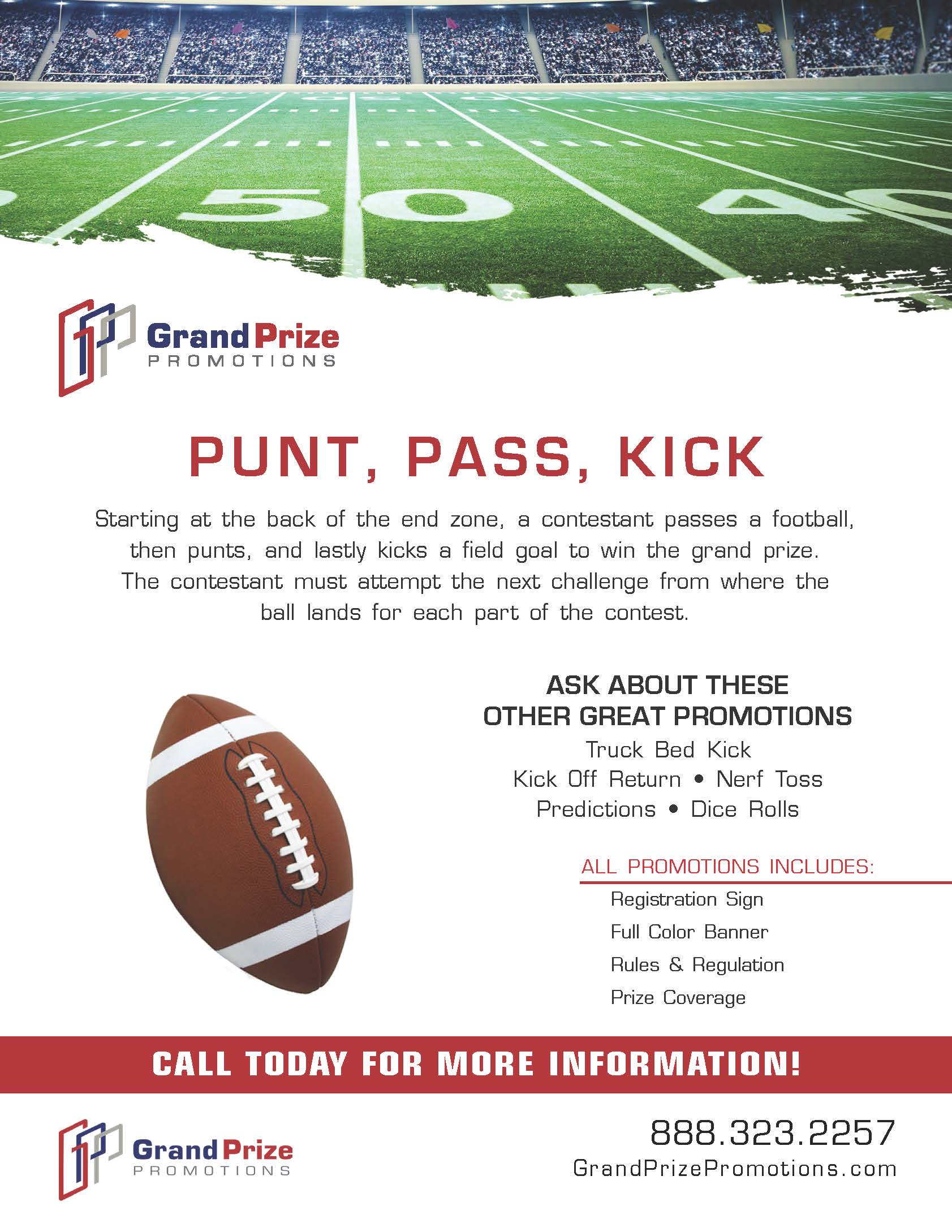 Football - Punt, Pass, Kick - Grand Prize Promotions