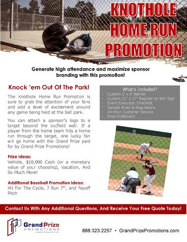 Knothole Home Run - Grand Prize Promotions