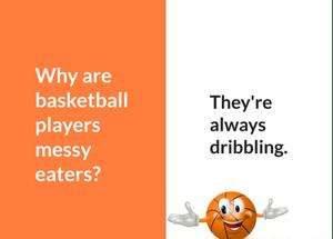 Basketball players messy