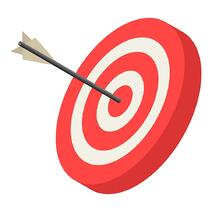 red-archery-target-icon-isometric-style-vector-20823612