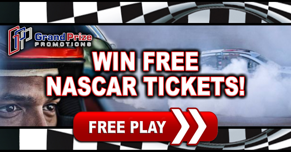 Last Chance At FREE Nascar Tickets!